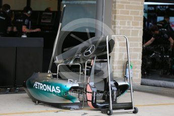 World © Octane Photographic Ltd. Mercedes AMG Petronas F1 W06 Hybrid. Wednesday 21st October 2015, F1 USA Grand Prix Set Up, Austin, Texas - Circuit of the Americas (COTA). Digital Ref: 1457LB5D2664