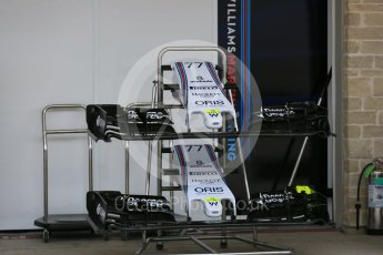 World © Octane Photographic Ltd. Williams Martini Racing FW37. Wednesday 21st October 2015, F1 USA Grand Prix Set Up, Austin, Texas - Circuit of the Americas (COTA). Digital Ref: 1457LB5D2683