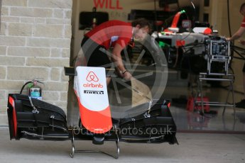 World © Octane Photographic Ltd. Manor Marussia F1 Team MR03B. Wednesday 21st October 2015, F1 USA Grand Prix Set Up, Austin, Texas - Circuit of the Americas (COTA). Digital Ref: 1457LB5D2721