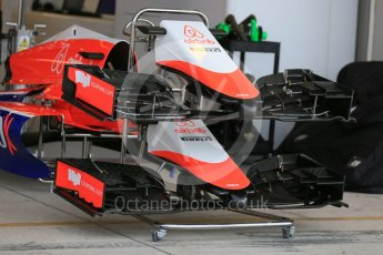 World © Octane Photographic Ltd. Manor Marussia F1 Team MR03B. Wednesday 21st October 2015, F1 USA Grand Prix Set Up, Austin, Texas - Circuit of the Americas (COTA). Digital Ref: 1457LB5D2724