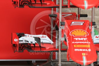 World © Octane Photographic Ltd. Scuderia Ferrari SF15-T. Wednesday 21st October 2015, F1 USA Grand Prix Set Up, Austin, Texas - Circuit of the Americas (COTA). Digital Ref: 1456LB1D7572