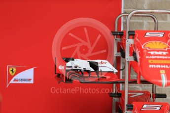 World © Octane Photographic Ltd. Scuderia Ferrari SF15-T. Wednesday 21st October 2015, F1 USA Grand Prix Set Up, Austin, Texas - Circuit of the Americas (COTA). Digital Ref: 1456LB1D7576