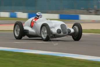 World © Octane Photographic Ltd. Saturday 2nd May 2015. Donington Historic Festival - Historic F1 Car demonstration laps. Replica Mercedes W125 (1937) – Kevin Wheatcroft. Digital Ref : 1240CB1L5671