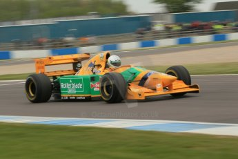 World © Octane Photographic Ltd. Saturday 2nd May 2015. Donington Historic Festival - Historic F1 Car demonstration laps. 1993 Benetton B193B/4 (Ex-Michael Shumacher). Digital Ref : 1240CB1L5703