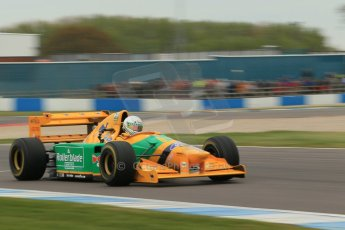 World © Octane Photographic Ltd. Saturday 2nd May 2015. Donington Historic Festival - Historic F1 Car demonstration laps. 1993 Benetton B193B/4 (Ex-Michael Shumacher). Digital Ref : 1240CB1L5752