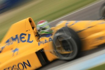 World © Octane Photographic Ltd. Saturday 2nd May 2015. Donington Historic Festival - Historic F1 Car demonstration laps. 1989 Lotus 101/3 - Steve Griffiths. (Ex-Satoru Nakajima). Digital Ref : 1240CB1L5767