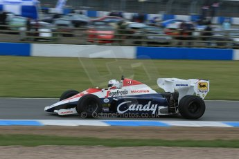 World © Octane Photographic Ltd. Saturday 2nd May 2015. Donington Historic Festival - Historic F1 Car demonstration laps. 1994 Toleman TG 184 (Ex-Ayrton Senna). Digital Ref : 1240LB1D5383