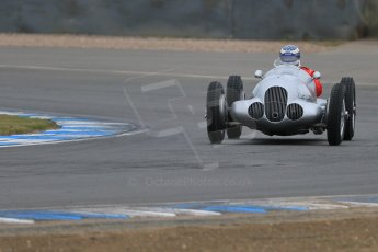 World © Octane Photographic Ltd. Saturday 2nd May 2015. Donington Historic Festival - Historic F1 Car demonstration laps. Replica Mercedes W125 (1937) – Kevin Wheatcroft. Digital Ref : 1240LB7D0971