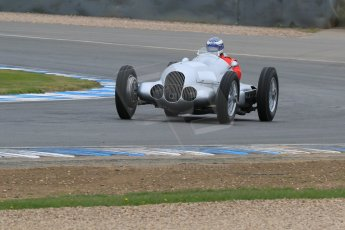 World © Octane Photographic Ltd. Saturday 2nd May 2015. Donington Historic Festival - Historic F1 Car demonstration laps. Replica Mercedes W125 (1937) – Kevin Wheatcroft. Digital Ref : 1240LB7D0984