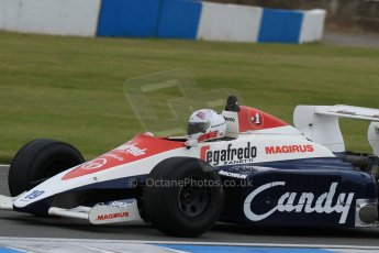 World © Octane Photographic Ltd. Saturday 2nd May 2015. Donington Historic Festival - Historic F1 Car demonstration laps. 1994 Toleman TG 184 (Ex-Ayrton Senna). Digital Ref : 1240LB7D1109