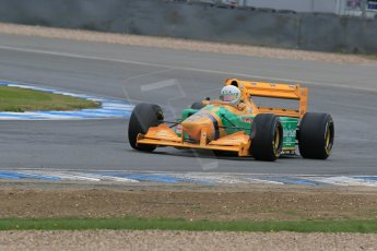 World © Octane Photographic Ltd. Saturday 2nd May 2015. Donington Historic Festival - Historic F1 Car demonstration laps. 1993 Benetton B193B/4 (Ex-Michael Shumacher). Digital Ref : 1240LB7D1193