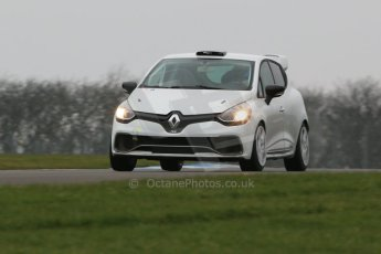 World © Octane Photographic Ltd. Friday 13th February 2015, General un-silenced test day – Donington Park, Brett Smith (Son of Jeff Smith) - Renault Clio RS. Digital Ref :