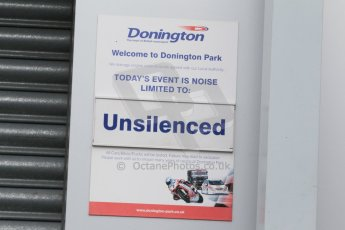 World © Octane Photographic Ltd. Friday 13th February 2015, General un-silenced test day sign – Donington Park. Digital Ref :
