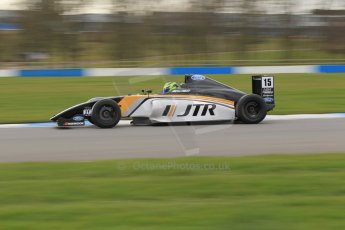 World © Octane Photographic Ltd. Wednesday 4th March 2015, General un-silenced test day – Donington Park - MSA Formula – Certified by FIA, Powered by Ford EcoBoost - James Pull - JTR. Digital Ref : 1196CB1L4977