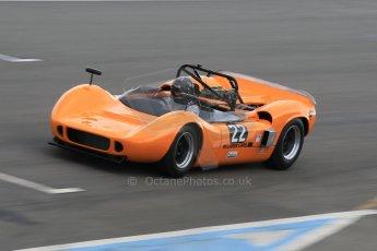 World © Octane Photographic Ltd. Wednesday 4th March 2015, General un-silenced test day – Donington Park, McLaren M6 - Carlos Incenti - Masters Historic Sportscar Championship. Digital Ref : 1196CB1L5174