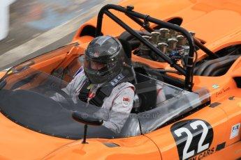 World © Octane Photographic Ltd. Wednesday 4th March 2015, General un-silenced test day – Donington Park, McLaren M6 - Carlos Incenti - Masters Historic Sportscar Championship. Digital Ref : 1196CB1L5360