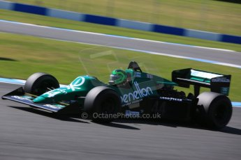 World © Octane Photographic Ltd. Donington Park general unsilenced testing June 4th 2015. Martin Stretton testing a Tyrrell 012 - FIA Historic F1 Championship/Masters GP. Digital Ref :