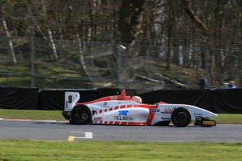 World © Octane Photographic Ltd. DUO BRDC Formula 4 Qualifying, Oulton Park, UK, Saturday 4th April 2015. MSV F4-013. Lanan Racing. Rodrigo Fonseca. Digital Ref : 1213LB1D2812
