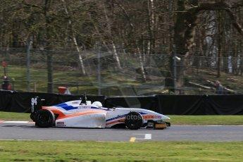 World © Octane Photographic Ltd. DUO BRDC Formula 4 Qualifying, Oulton Park, UK, Saturday 4th April 2015. MSV F4-013. Mark Godwin Racing (MGR). Michael O'Brien Digital Ref : 1213LB1D2862