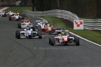 World © Octane Photographic Ltd. DUO BRDC Formula 4 Race 1, Oulton Park, UK, Saturday 4th April 2015. MSV F4-013. Hillspeed. Sebastian Lanzetti. Digital Ref : 1214LB1D3154