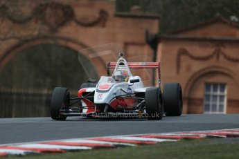 World © Octane Photographic Ltd. DUO BRDC Formula 4 Race 1, Oulton Park, UK, Saturday 4th April 2015. MSV F4-013. Douglas Motorsport. Fernando Urrutia. Digital Ref : 1214LB1D3530