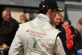 World © Octane Photographic Ltd. Saturday 25th April 2015, MSVR F3 Cup Race 1 parc ferme. Donington Park. Chris Dittmann Racing (CDR) – Kieran Vernon – Dallara F307 Mercedes HWA. Digital Ref: 1235CB7B1882