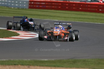 World © Octane Photographic Ltd. FIA European F3 Championship, Silverstone Race 2, UK, Saturday 11th April 2015. kfzteile24 Mucke Motorsport – Michele Beretta, Dallara F312 – Mercedes-Benz and Eurointernational – Nicolas Beer, Dallara F312 – Mercedes-Benz. Digital Ref : 1223LB1D8011