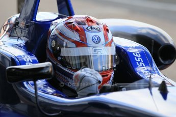 World © Octane Photographic Ltd. FIA European F3 Championship, Silverstone Race 2 parc ferme, UK, Saturday 11th April 2015. Carlin – George Russell, Dallara F312 – Volkswagen. Digital Ref : 1223LW1L0549