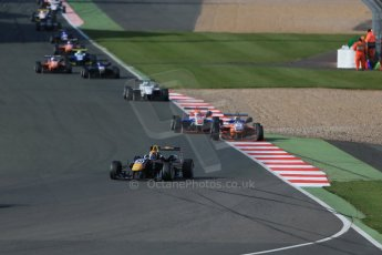 World © Octane Photographic Ltd. FIA European F3 Championship, Silverstone Race 3, UK, Sunday 12th April 2015. Carlin – Calum Ilott, Dallara F312 – Volkswagen. Digital Ref : 1224LB1D8434