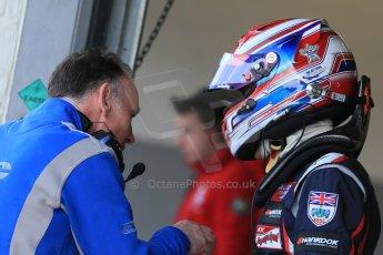 World © Octane Photographic Ltd. FIA European F3 Championship, Silverstone test day, UK, Tuesday 7th April 2015. Carlin – George Russell, Dallara F312 – Volkswagen. Digital Ref :