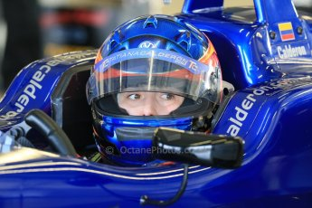World © Octane Photographic Ltd. FIA European F3 Championship, Silverstone test day, UK, Tuesday 7th April 2015. Carlin – Tatiana Calderon, Dallara F312 – Volkswagen. Digital Ref :