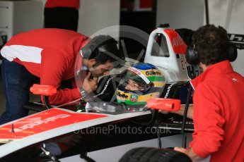 World © Octane Photographic Ltd. FIA Formula E testing – Donington Park 10th August 2015, Mahindra M2ELECTRO. Mahindra – Nick Heidfeld. Digital Ref : 1366LB1D4307
