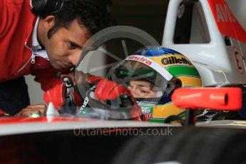 World © Octane Photographic Ltd. FIA Formula E testing – Donington Park 10th August 2015, Mahindra M2ELECTRO. Mahindra – Nick Heidfeld. Digital Ref : 1366LB1D4317