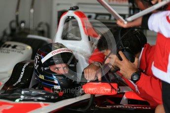 World © Octane Photographic Ltd. FIA Formula E testing – Donington Park 10th August 2015, Mahindra M2ELECTRO. Mahindra – Nick Heidfeld. Digital Ref : 1366LB1D4371