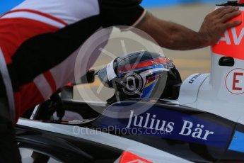World © Octane Photographic Ltd. FIA Formula E testing – Donington Park 10th August 2015, Mahindra M2ELECTRO. Mahindra – Nick Heidfeld. Digital Ref : 1366LB1D4481