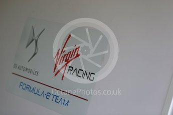 World © Octane Photographic Ltd. FIA Formula E testing – Donington Park 11th August 2015, Virgin DSV-01. DS Virgin Racing logo. Digital Ref : 1367LB1D4650