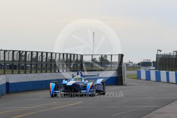 World © Octane Photographic Ltd. FIA Formula E testing – Donington Park 11th August 2015, Andretti ATEC-01. Amlin-Andretti – Simona di Silvestro. Digital Ref : 1367LB1D4745
