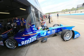 World © Octane Photographic Ltd. FIA Formula E testing – Donington Park 11th August 2015, Andretti ATEC-01. Amlin-Andretti – Simona di Silvestro. Digital Ref : 1367LB1D5043