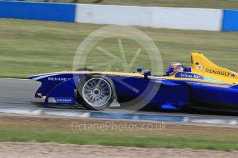 World © Octane Photographic Ltd. FIA Formula E testing – Donington Park 11th August 2015, Renault Z.E.15. Renault e.Dams – Sebastien Buemi. Digital Ref : 1367LB1D5147