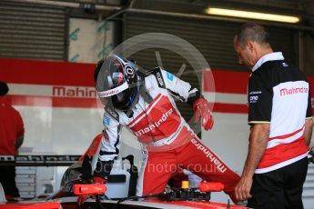 World © Octane Photographic Ltd. FIA Formula E testing – Donington Park 11th August 2015, Mahindra M2ELECTRO. Mahindra – Nick Heidfeld. Digital Ref : 1367LB5D2580