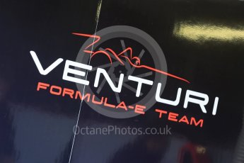 World © Octane Photographic Ltd. FIA Formula E testing – Donington Park 11th August 2015, Venturi VM200-FE-01. Venturi logo. Digital Ref : 1367LB5D2605