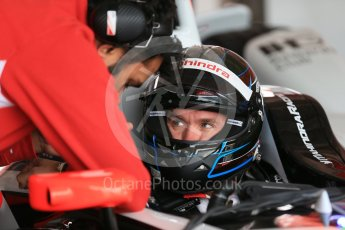 World © Octane Photographic Ltd. FIA Formula E testing – Donington Park 17th August 2015, Mahindra M2ELECTRO. Mahindra – Nick Heidfeld. Digital Ref : 1368LB1D5460