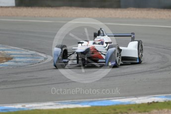 World © Octane Photographic Ltd. FIA Formula E testing – Donington Park 17th August 2015, SRT01-e. Team Aguri – Nicolas Lapierre. Digital Ref : 1368LB1D5587