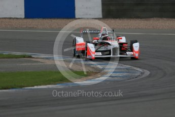 World © Octane Photographic Ltd. FIA Formula E testing – Donington Park 17th August 2015, Mahindra M2ELECTRO. Mahindra – Nick Heidfeld. Digital Ref : 1368LB1D5679