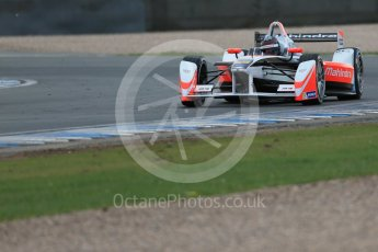 World © Octane Photographic Ltd. FIA Formula E testing – Donington Park 17th August 2015, Mahindra M2ELECTRO. Mahindra – Nick Heidfeld. Digital Ref : 1368LB1D5709