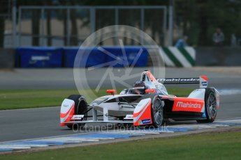 World © Octane Photographic Ltd. FIA Formula E testing – Donington Park 17th August 2015, Mahindra M2ELECTRO. Mahindra – Nick Heidfeld. Digital Ref : 1368LB1D5712