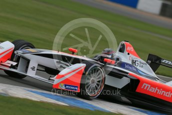 World © Octane Photographic Ltd. FIA Formula E testing – Donington Park 17th August 2015, Mahindra M2ELECTRO. Mahindra – Nick Heidfeld. Digital Ref : 1368LB1D5772