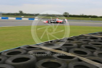 World © Octane Photographic Ltd. FIA Formula E testing – Donington Park 17th August 2015, Mahindra M2ELECTRO. Mahindra – Nick Heidfeld. Digital Ref : 1368LB5D2860