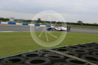 World © Octane Photographic Ltd. FIA Formula E testing – Donington Park 17th August 2015, SRT01-e. Team Aguri – Nicolas Lapierre. Digital Ref : 1368LB5D2869