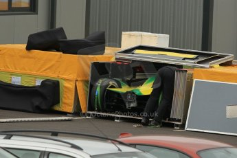 World © Octane Photographic Ltd. Saturday 2nd May 2015 Donington Park base. Cars packing for Monaco ePrix. Digital Ref : 1243CB1L5285